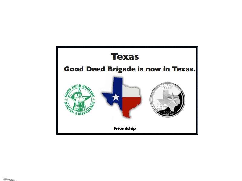 Good Deed Brigade State Postcard - Texas
