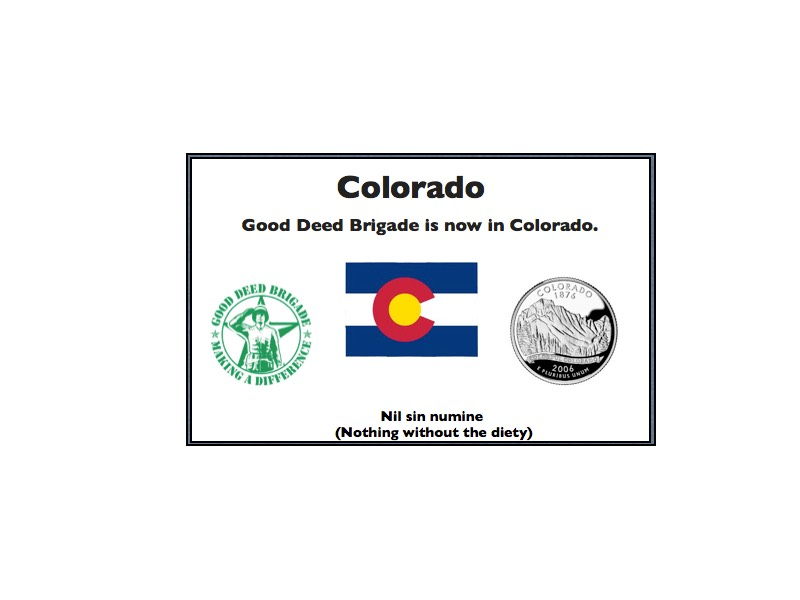 Good Deed Brigade State Postcard - Colorado